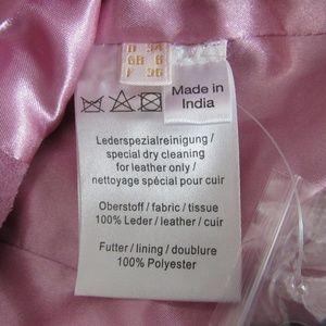 Crisca Jackets & Coats - Crisca Leather Vest Womens Size 4 Pink Moto